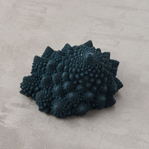 Romanesco paperweight made from jesmonite.