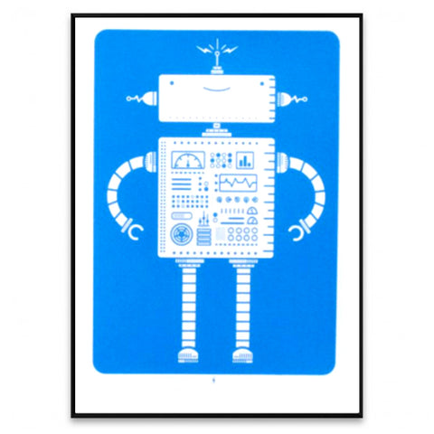 Robot Screen Print Blue