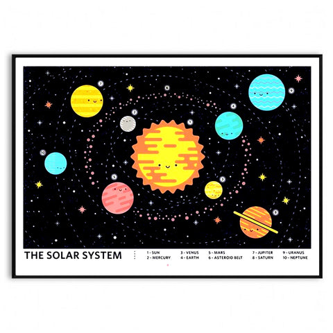 Hand Screen Print of The Solar System A2 Limited Edition