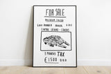 Millenium Falcon For Sale Star Wars Print