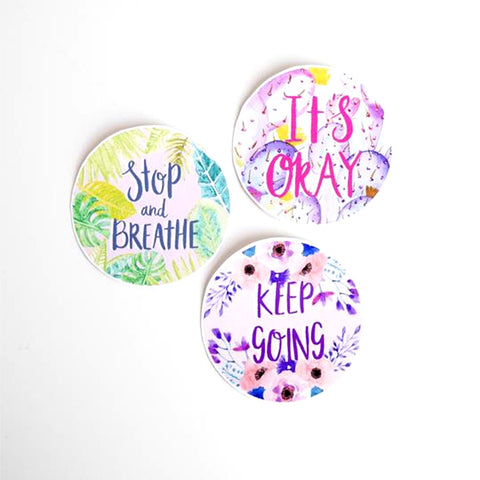 Positive Self Care Sticker Set