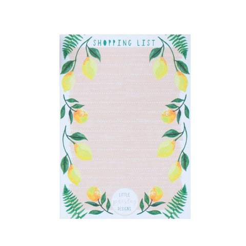 Lemon Design Magnetic Shopping List Notepad