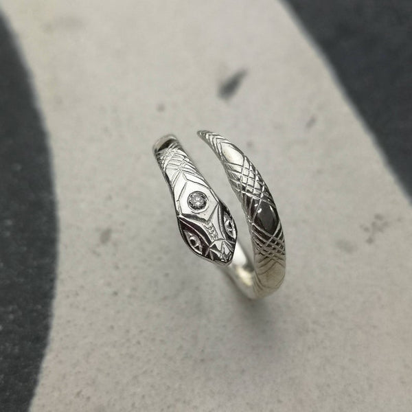 Snake Ring With Diamond
