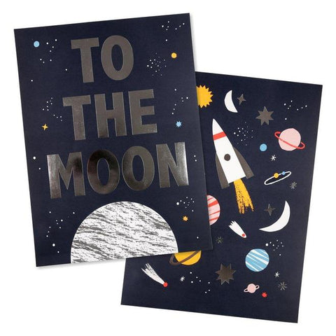 Meri Meri Moon And Space Print Set Of 2