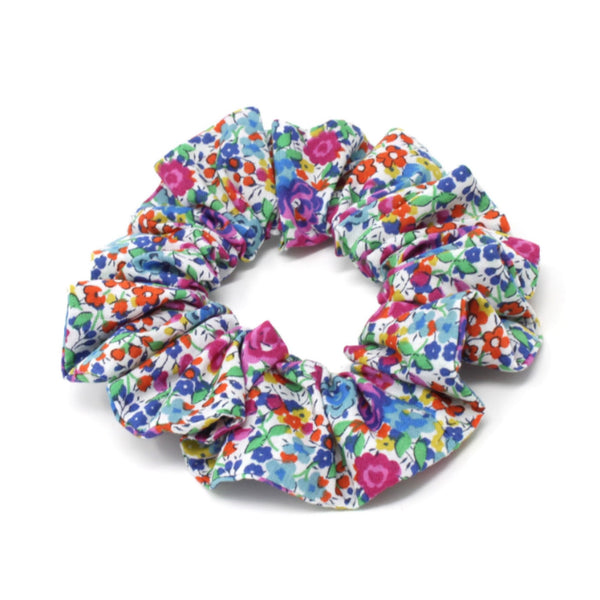 Liberty print cotton fabric elasticated scrunchie
