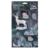 Silver Stag Card Pop And Slot Christmas Card
