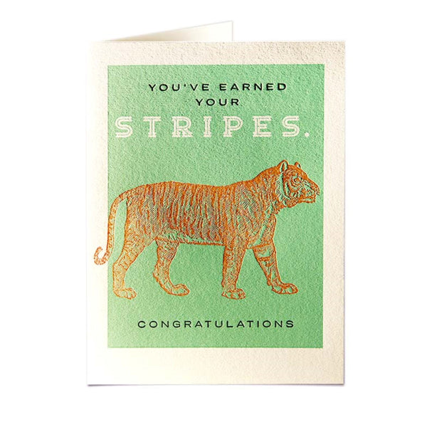 Tiger Stripes Letter Pressed Card
