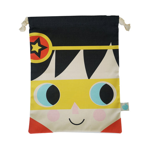 Drawstring Bag Children's Cotton Super Hero III