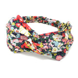 Liberty print cotton fabric headband with elasticated back