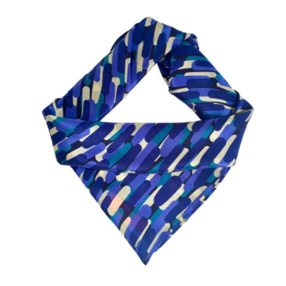 The Blues Abstract Silk Scarf