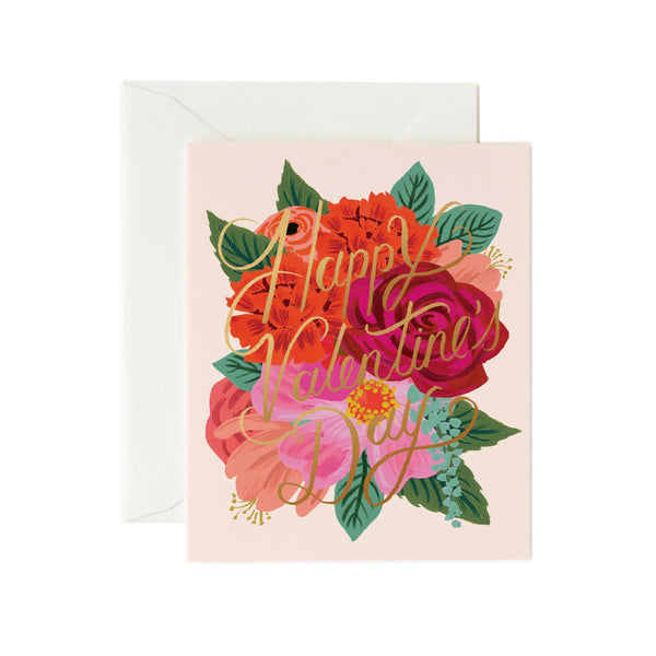 Valentine's Day Flowers Card