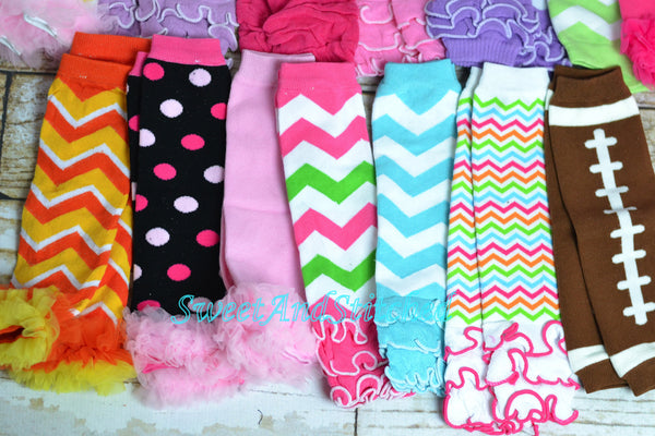 Leg Warmers for Baby girls in assorted colors and styles!  Great Accessory for Birthdays or holidays! - Sweet and Stitched