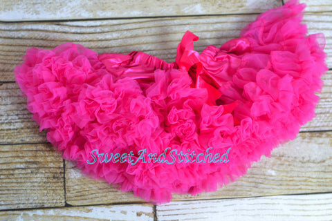 Girls Pettiskirt in 12M-2T - the perfect accessory for birthday outfits and holiday outfits! - Sweet and Stitched