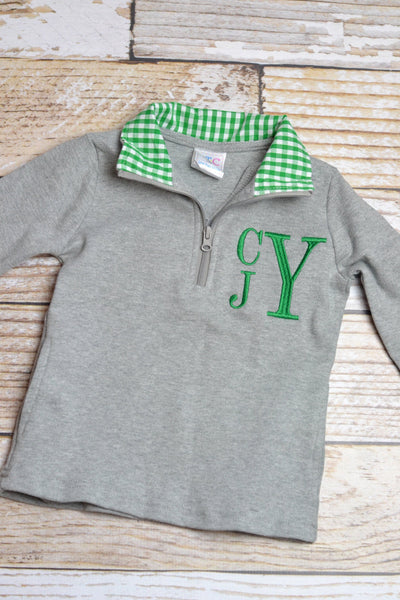 Boys Monogrammed Christmas jacket, pullover