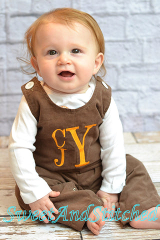 Baby Boy fall outfit - Boys Thanksgiving Outfit, baby boy longall overalls