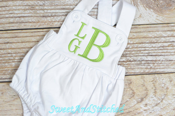 BLANK baby boy outfit, bubble romper sunsuit BLANK