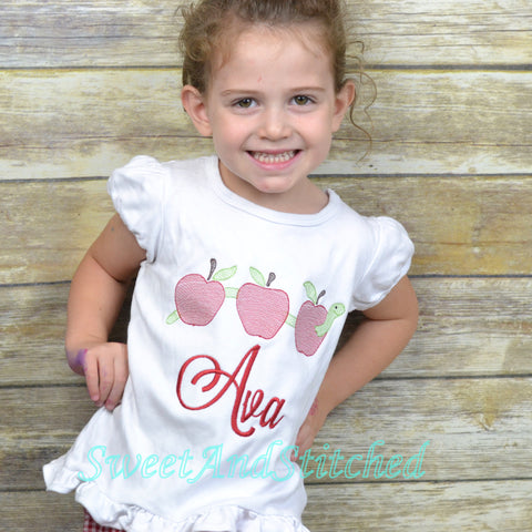 Girls Back to School Shirt personalized