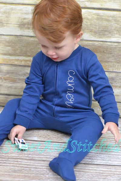 Newborn boy footed sleeper, baby boy take home outfit