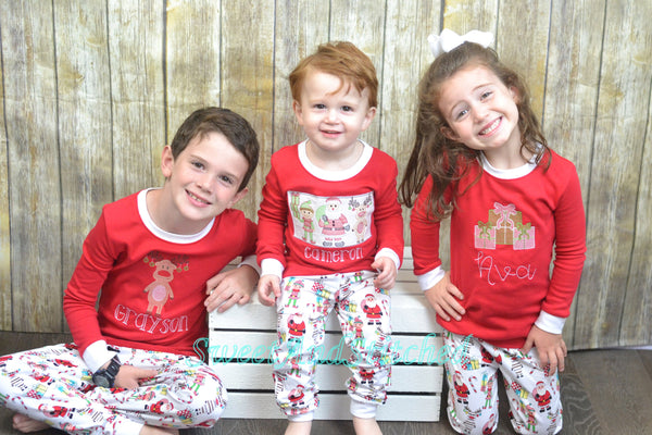 Kids Christmas Pajamas (Pjs, Jammies) in new Style 2019 with name