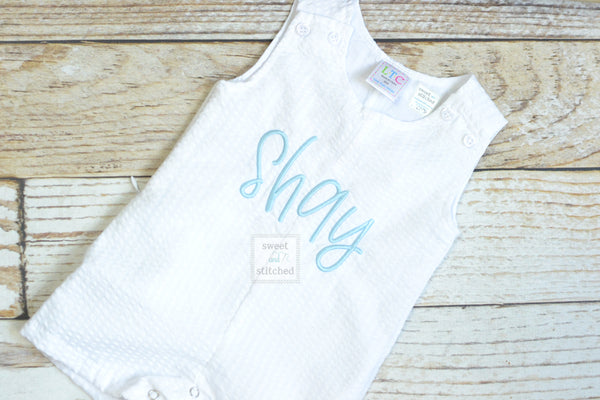 Monogrammed Boys Jon Jon, Baby boy Easter or Summer Outfit