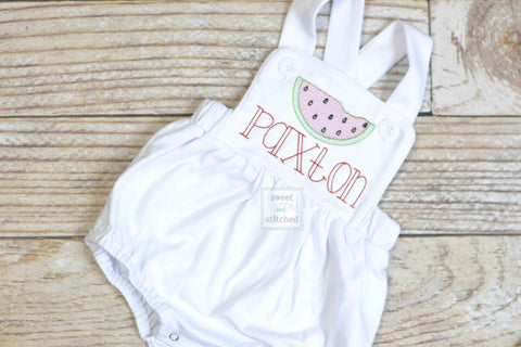 Monogrammed Boys watermelon outfit, watermelon cake smash outfit