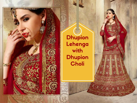Dhupion Lehenga with Dhupion Choli