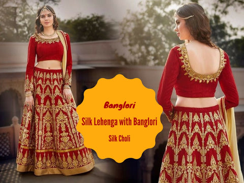 Banglori Silk Lehenga with Banglori Silk Choli