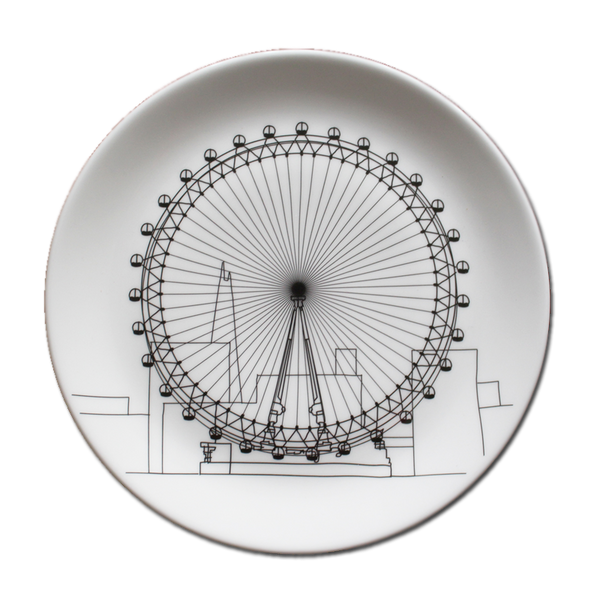 Toby Melville Brown x Beach - London Eye Plate