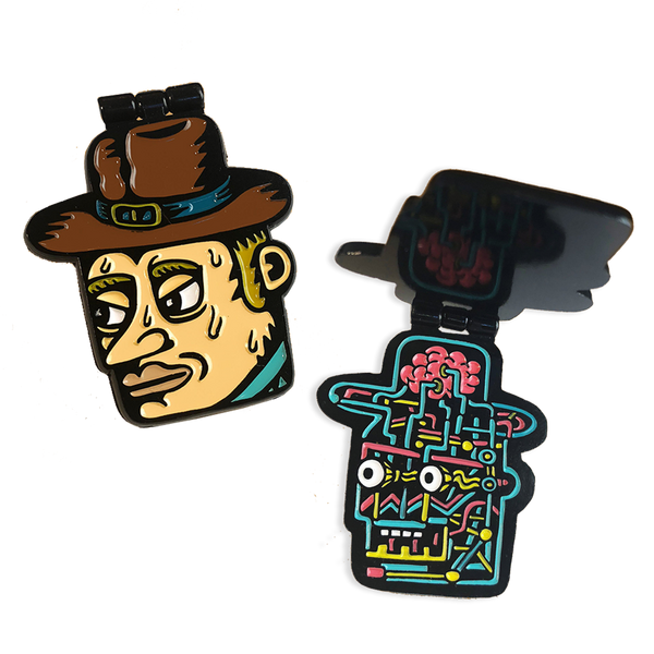 Killer Acid - Cowboy Robot pin