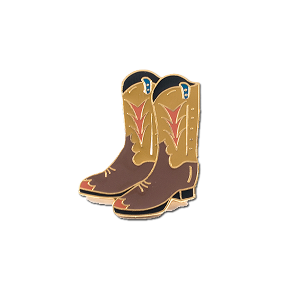 Explorer's Press - Cowboy Boots Pin