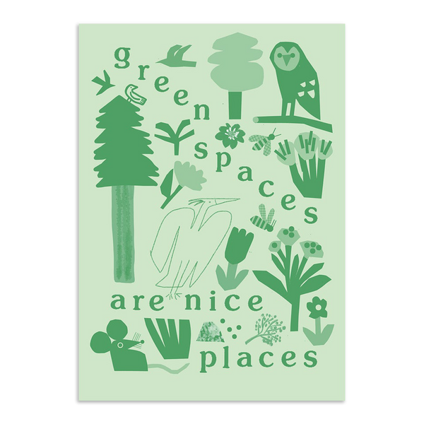 Lizzie Lomax - Green Spaces are Nice Places print