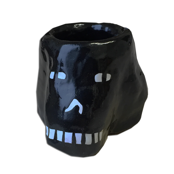 Lucy Kirk - Skull candle holder