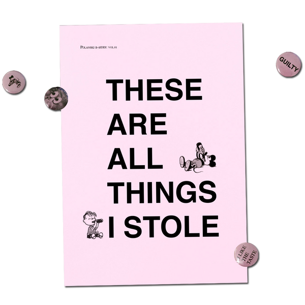 Catalogue Library - These Are All Things I Stole zine