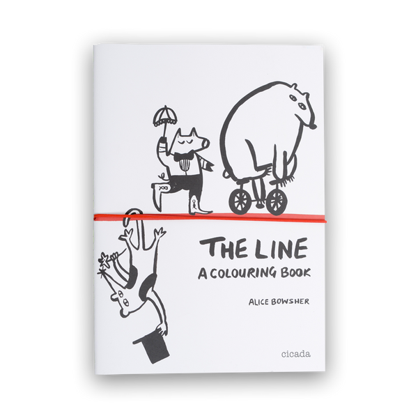 Alice Bowsher - The Line colouring book