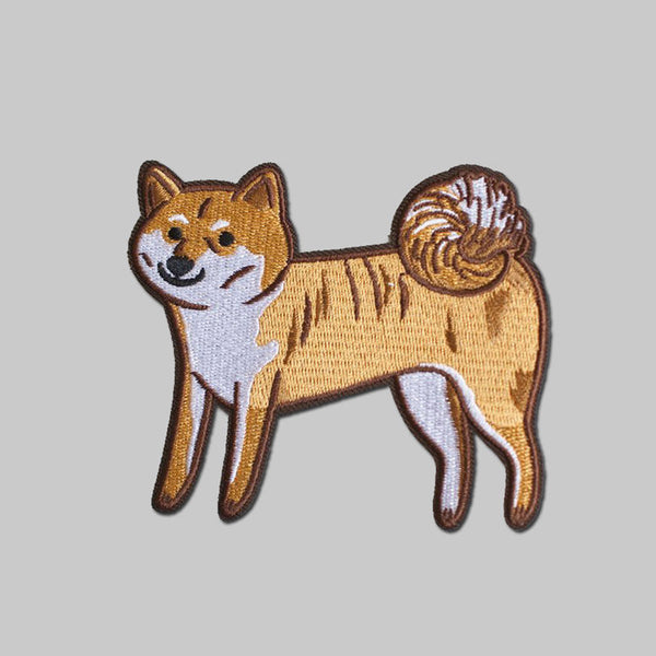 Stay Home Club - Aiko Shiba Inu iron-on patch