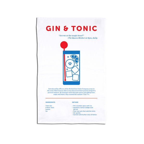 Crispin Finn - Gin and Tonic Tea Towell