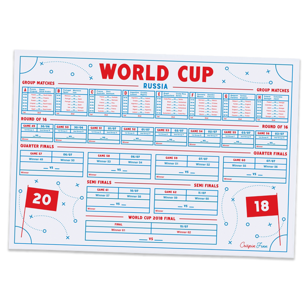 Crispin Finn - World Cup Wall Planner