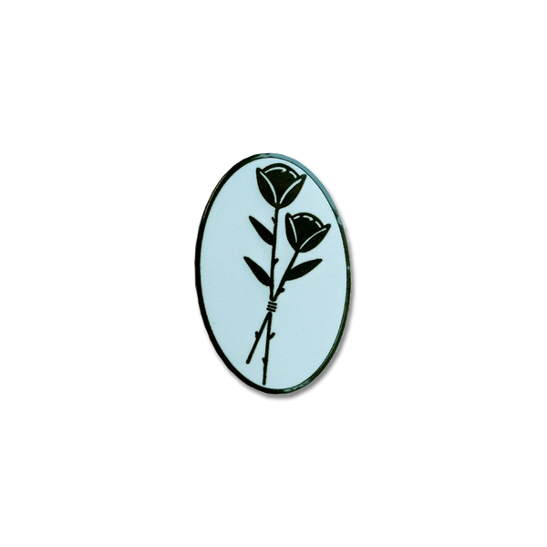 Explorer's Press - Black Rose pin