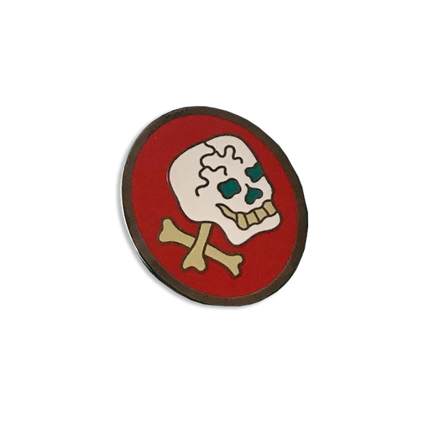 Good Luck World - Skull pin