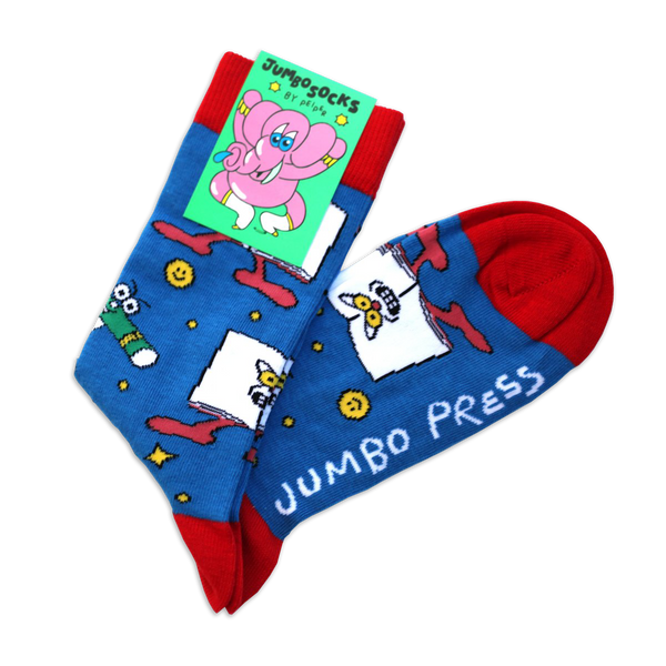 Jumbo Press - Blue Jumbo socks