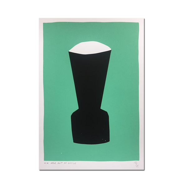 Out Of Office - 'A black vase screenprint'