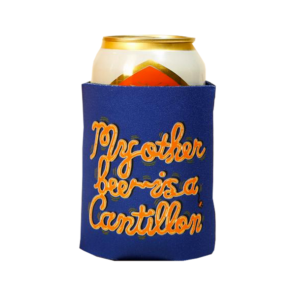 Sam Taylor - beer koozie - blue