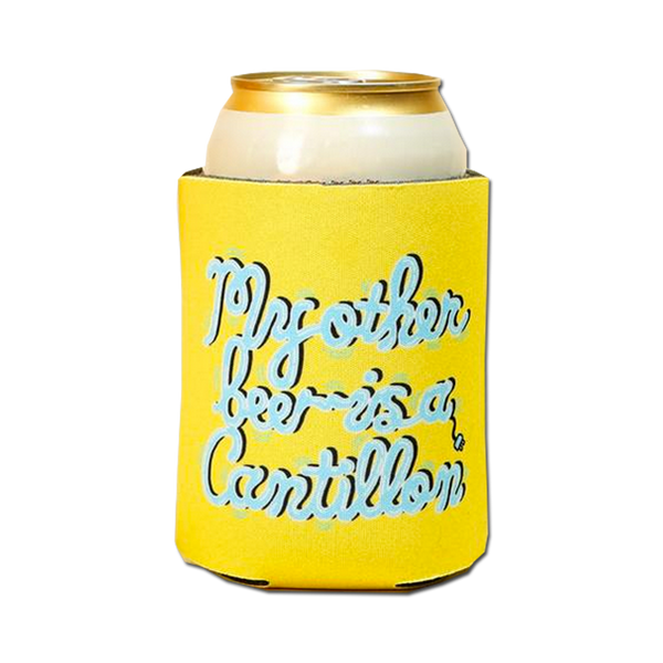 Sam Taylor - beer koozie - yellow