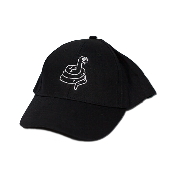 Blue Monday - Snake Hat 6 Panel - Black