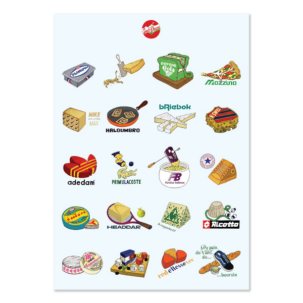 Sports Cheeses A2 Poster