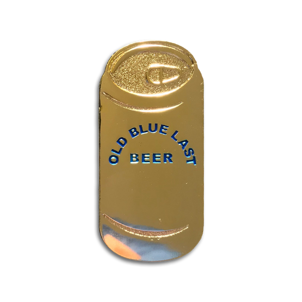 Old Blue Last Beer Can pin (tallboy)