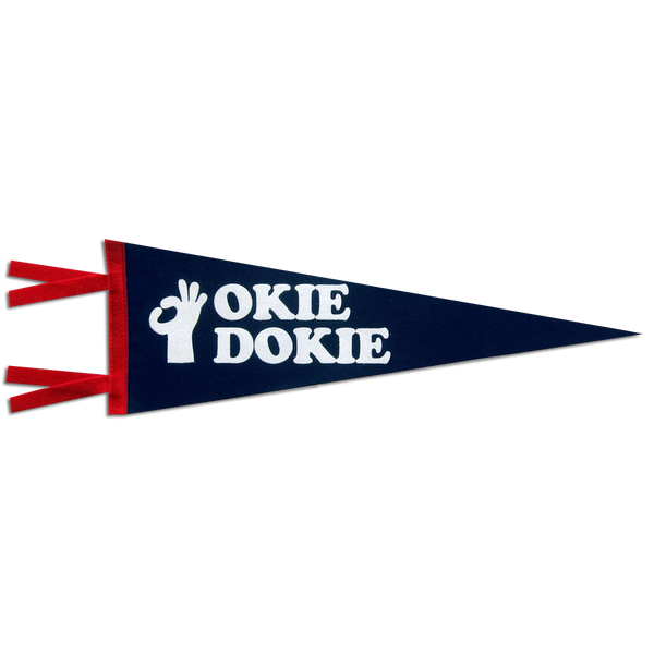 Three Potato Four - Okie Dokie pennant