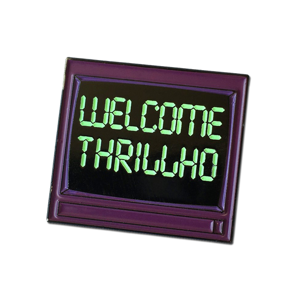 The Leftorium - THRILLHO glow-in-dark pin