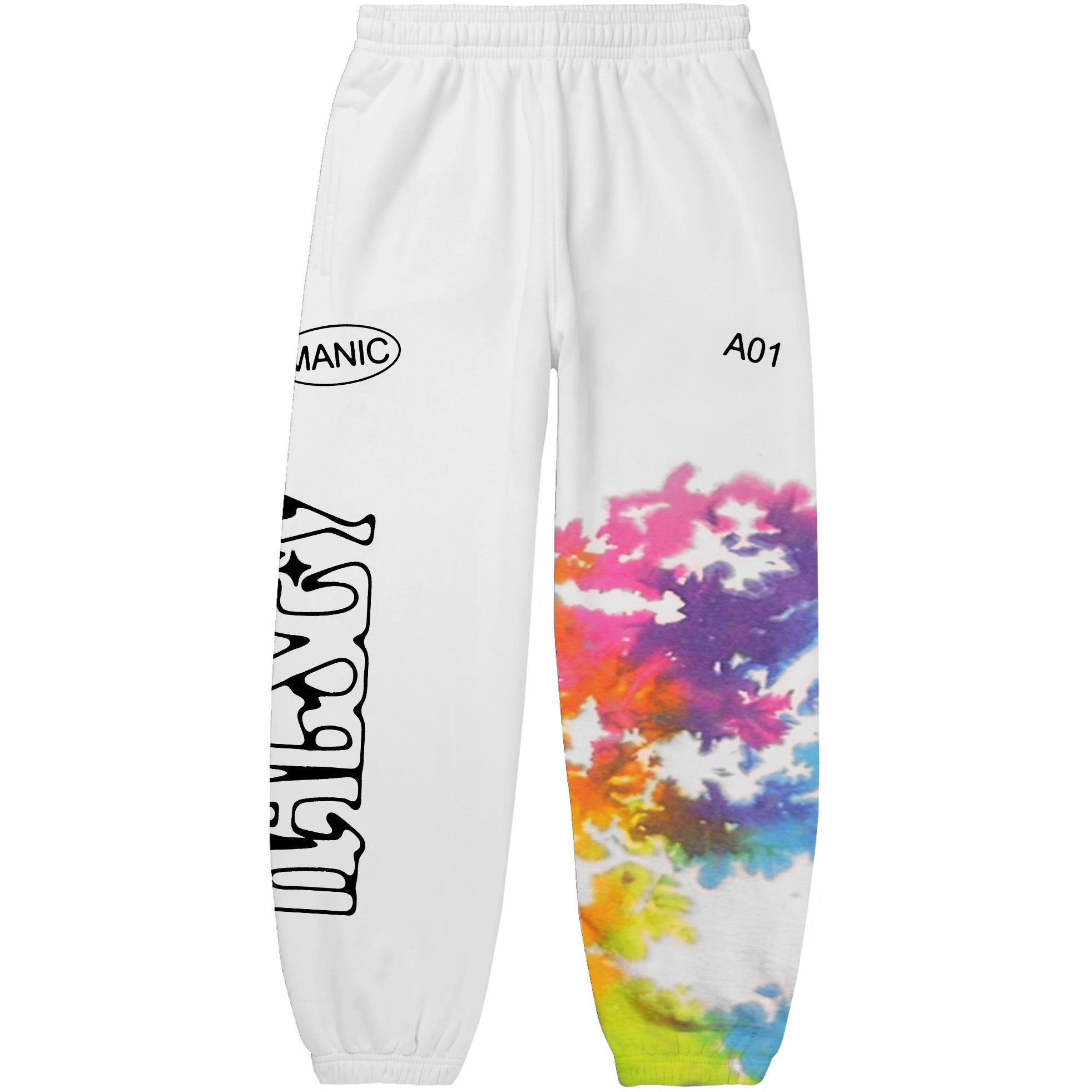LIMITED EDITION 'MANIC' TIE-DYE SWEATPANTS