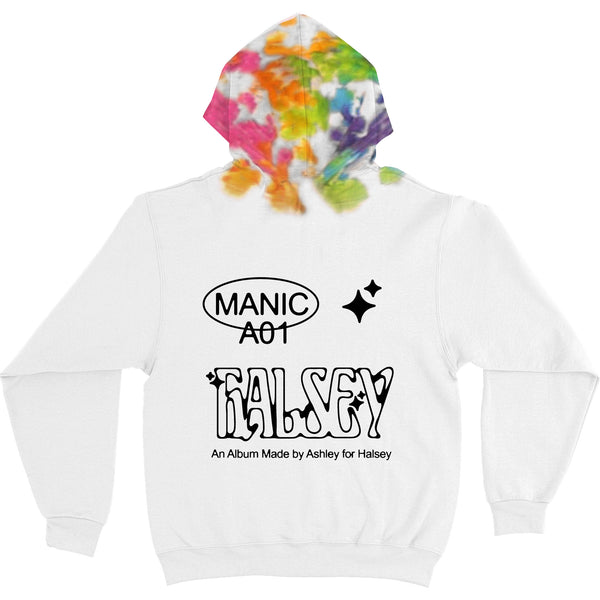 LIMITED EDITION 'MANIC' TIE DYE HOODIE